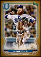 Justin Turner 2020 Topps Gypsy Queen 5x7 Gold #92 /10 Dodgers