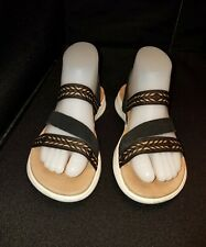 LNWO Women's 6/36 SKECHERS ON-THE-GO Black Lea. & Elastic Strap SANDALS GEN 5