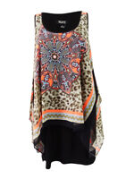 SL Fashions Women's Printed Chiffon Popover Dress