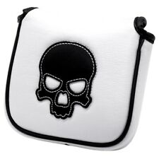 Black Skull White Stitching Golf Mallet Putter Cover Square Mallet Putter Covers