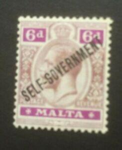 MALTA 1922 OPTD SG109 MH