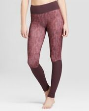 Womens Comfort Long Ribbed Leggings JoyLab Wine Texture XXL Athletic Apparel NWT