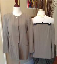 Ellen Tracy Suit Jacket Pencil Skirt 6/10 Women's Linda Allard Business Brown