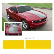 Ford Mustang 2010-2012 Center Stripe Body Graphic Kit - Bright Yellow
