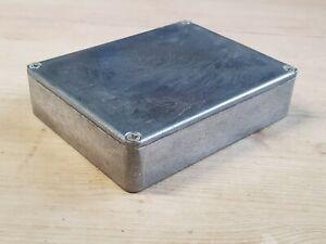 Vintage Die Cast Aluminium Project Box / Enclosure 120x95x30 - Small / Short