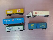 HO Scale Freight Lot with Semi; C-5 Good Condition, L&N, Dairyman's League, MNJ