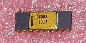 Intel 8008 CPU 18-PIN DIP Gold Ceramic Vintage