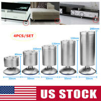 4x Stainless Steel Plinth Leg Feet Cabinet Kitchen Furniture Stand Adjustable US