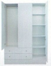 Assembled New Retro white  Wardrobe /cupboard/Hanging space, drawers, shelvers