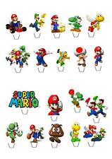 Super Mario  STAND UP Cupcake Fairy Cake Toppers Edible  Decorations cupcake