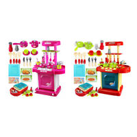 1set enfants electroniques portatifs Cuisine pour enfants jouet Set de Jeu Q6K3