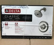 Delta Classic 1-Handle Shower Faucet with Valve in Brushed Nickel 142910C-SS