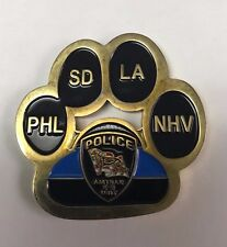 """Amtrak Police Department K-9 Unit 1.75"""" Paw Coin"""
