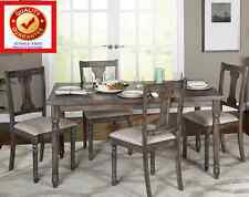 5 Pc Rustic Burntwood Diningroom Set / Kitchen Table Dining Set