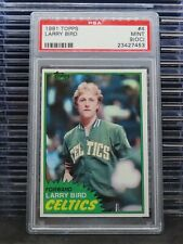 1981 Topps Larry Bird #4 PSA 9 OC Celtics P25
