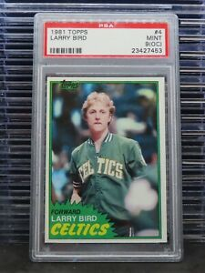 1981 Topps Larry Bird #4 PSA 9 OC Celtics P25