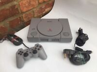 SONY PLAYSTATION 1 PS1 CONSOLE / Tested Working & Controller / 8 FREE Games