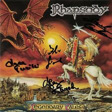 RHAPSODY-LEGENDARY TALES CD 1997 Autographed Signed By All Original members