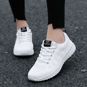 Women Shoes Flats Fashion Casual Ladies Shoes Lace-Up Mesh Breathable Girl Sport