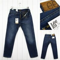 NEW  LEE 101 TAPERED JEANS 11 3/4 oz  SPECKLED DENIM SLIM  FIT BLUE  _ ALL SIZES