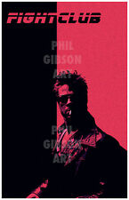 "Original Fight Club ""Soap"" Art Print Poster Tyler Durden Boxing Blu Brad Pitt"