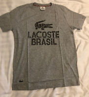 Lacoste Live Brasil T Shirt - Grey - Limited Edition - S M L Clearance Stock