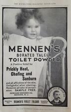 New listing 1904 ORIGINAL VINTAGE Mennen Talcum Toilet Powder Print AD