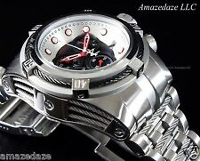 New Invicta Mens Reserve Stainless Steel Swiss Chronograph Bolt Zeus Watch $3495