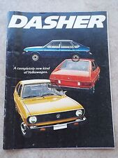 Vintage 1974 Volkswagen DASHER Automobile VW Advertising Sales Brochure
