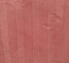 Pink and White Striped Chevron Upholestry Fabric Vintage
