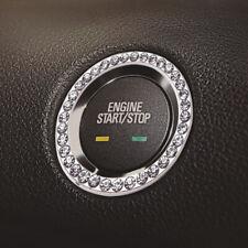 Diamond Rhinestone Ring Circle Trim Car Bling Start Switch Button Decorative