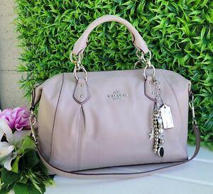 New Coach Colette birch gray Leather Carryall Satchel Bag F33806 purse handbag