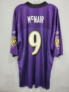 VTG Reebok Baltimore Ravens Steve McNair #9 Football Jersey Mens 2XL EUC