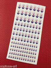 132 mini Adesivi Sticker Maserati varie misure per modellismo OLD