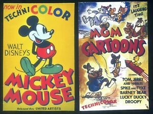 Fridge Magnets Lot 2 - WALT DISNEY & WARNER BROS - TWO POSTER FROM OLD MOVIES