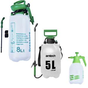 2L 5L 8L Garden Pressure Pump Sprayer Spray Water Detergent Fertiliser Weed