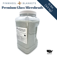 Pinwheel Premium Glass Microbeads (10 lbs) | Great Beads for Weighted Blankets