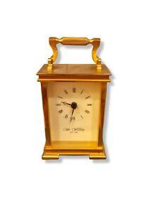 WM Widdop Vintage Gold Plated Heavy Mantel Carriage Clock