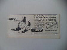 advertising Pubblicità 1953 OROLOGIO TISSOT CAMPING