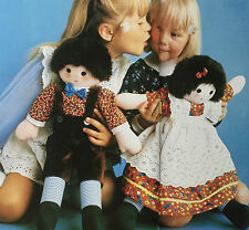 SEWING PATTERN Jean Greenhowe Twin Rag Dolls Boy & Girl Toy 48cm tall Doll RARE