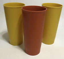 New ListingVintage Tupperware 1348 18 oz Tumblers Harvest Set of 3 Yellow Orange
