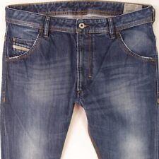 Herren Diesel Krooley 0817F Regular Slim Carrot Blau Jeans W32 L34