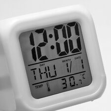Brand New Glowing 7 LED Color Change Digital Glowing Alarm Thermometer Clock LU