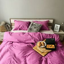 Natural Cotton Duvet Cover in Lilac Twin Full Queen King Custom Size