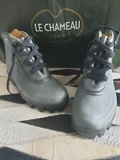 Le Chameau Brodequin Ceres Lace Low Ankle Boot Vert Size 40 UK 6.5 CLEARANCE