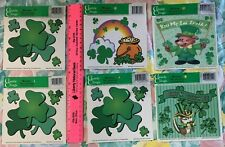 St Patrick Day Classic Clings Window Stickers & Leprecaun