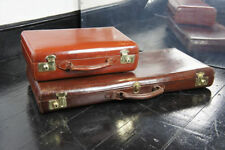 Leather Unisex Adult Suitcases without Wheels