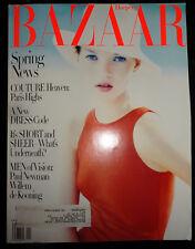 Vtg Bazaar 4/1994 Kate Moss Claudia Schiffer Linda Evangelista Hugh Grant Newman