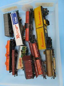 LOT HO Trains Freight Junkyard Parts Marklin Roco Germany Etc Shell Track Clean