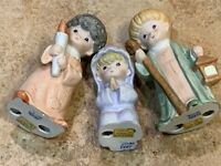 VINTAGE HOMCO BISQUE XMAS NATIVITY FIGURINES LOT 3 MARY SHEPHERD JOSEPH BOY 5602